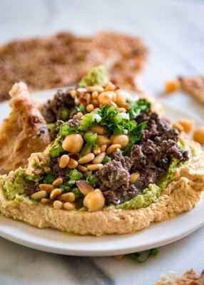 Whipped Hummus with Toasted Pine Nuts