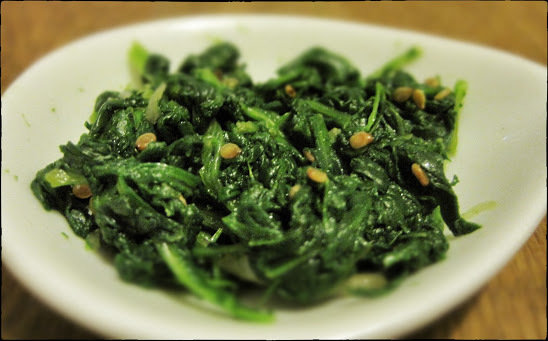Creamy Garlic Spinach 00037