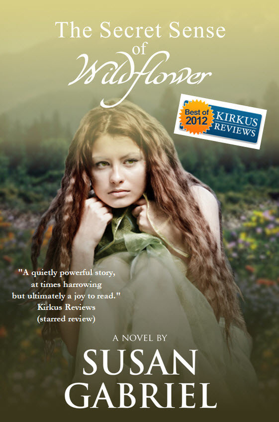 The Secret Sense of Wildflower - paperback, autographed by author 001