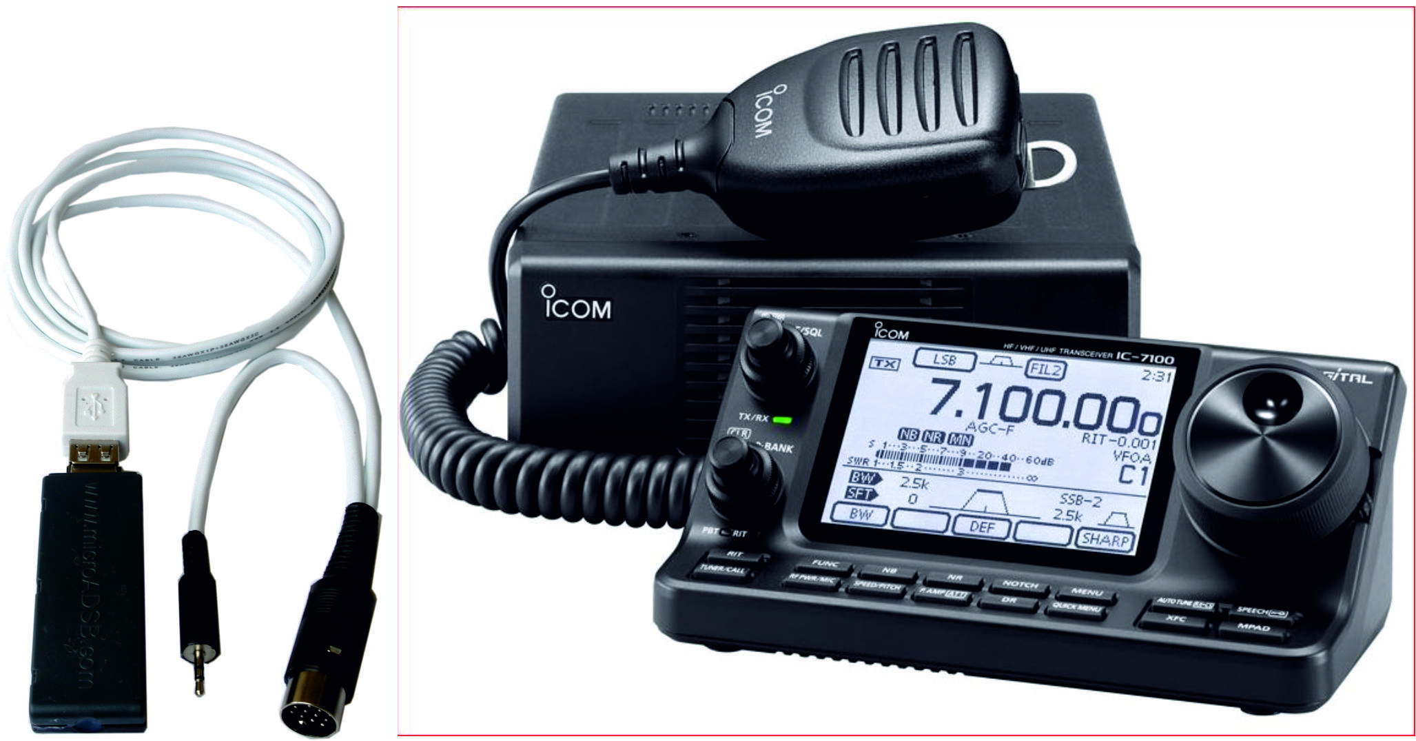 NEW PRODUCT!!!! GPS7100 GPS receiver module for ICOM IC-7100
