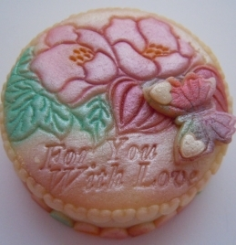 Blooms & Butterfly Marzigram Mini Cake 00128