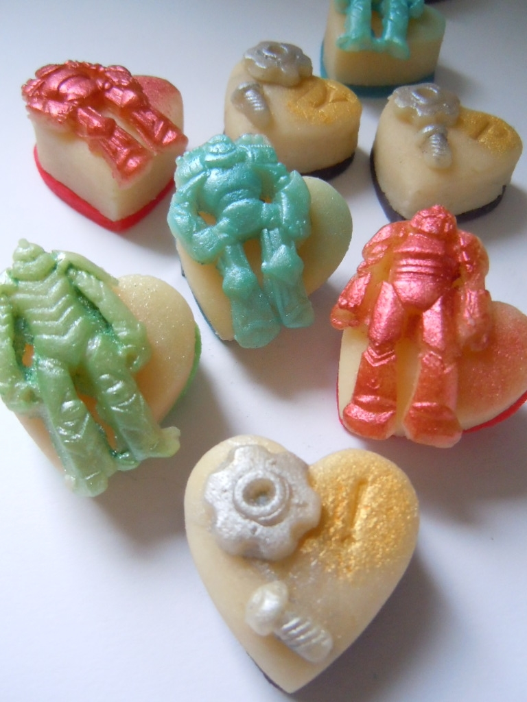 """Complete with marzipan """"nuts and bolts"""", these Robots are sure to be a hit!"""