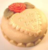Red Rose Marzigram Mini Cake