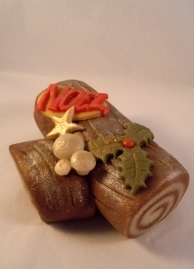 Marzipan Yule Log