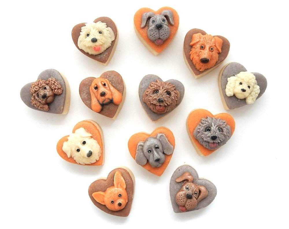Lots of lovely marzipan puppies.