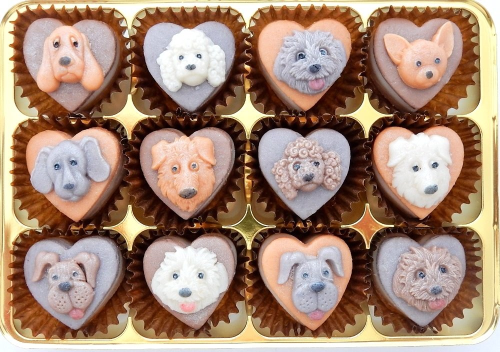 Dog loving marzipan lovers will love this gift.