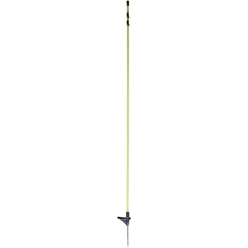 Oval-Fiberglaspfahl mit Metallspitze 154cm - SPERRGUT