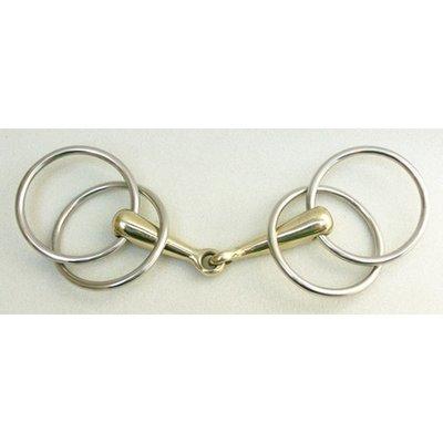 Doppelringtrense (8,5 cm - 19,5 cm) Argentan Edelstahlringe