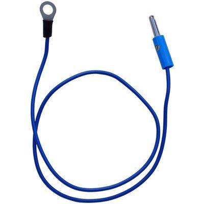 Erdanschlusskabel (Öse-Stecker) blau