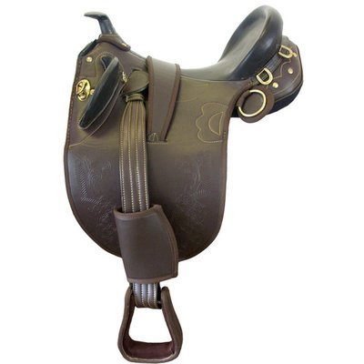 Stocksattel, synth. mit Horn