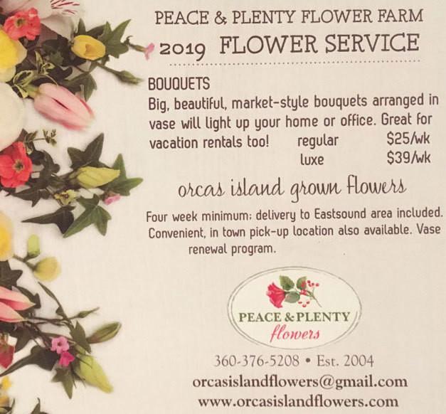 4 week flower CSA $100-$156