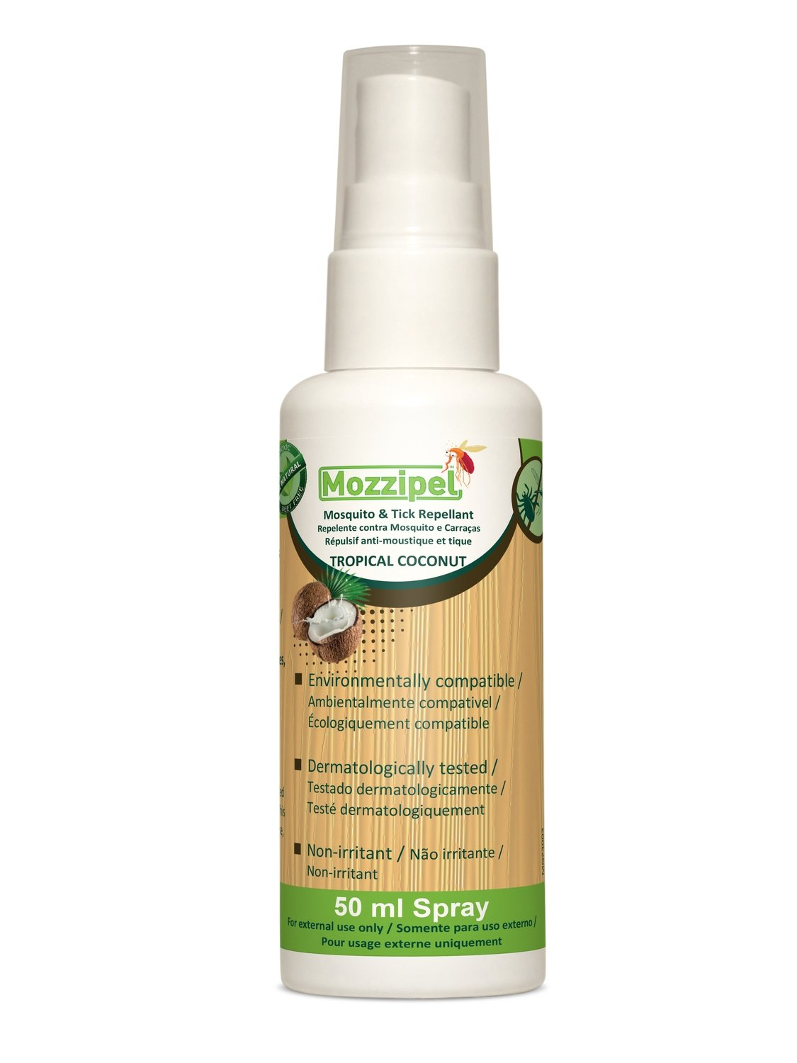Mozzipel Natural Insect Repellent - TROPICAL COCONUT 50ml
