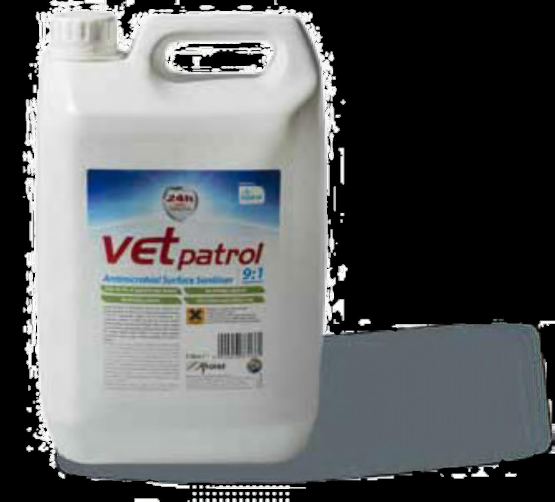 Vet Patrol Antimicrobial Surface Sanitiser 9:1 Concentrate 5L
