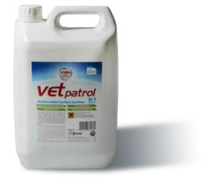 Vet Patrol Antimicrobial Surface Sanitiser 9:1 Concentrate 5L