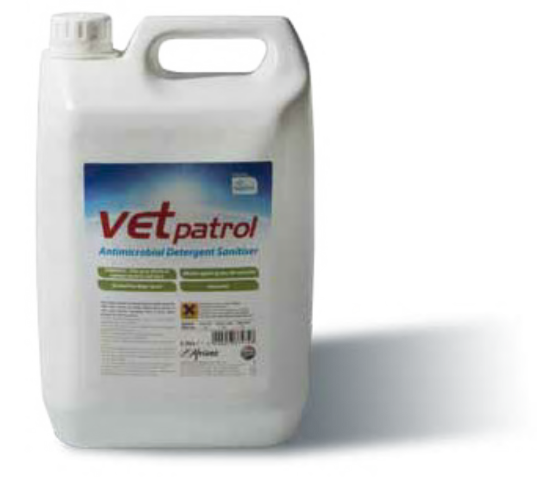 Vet Patrol Antimicrobial Detergent Sanitiser Concentrate 5L