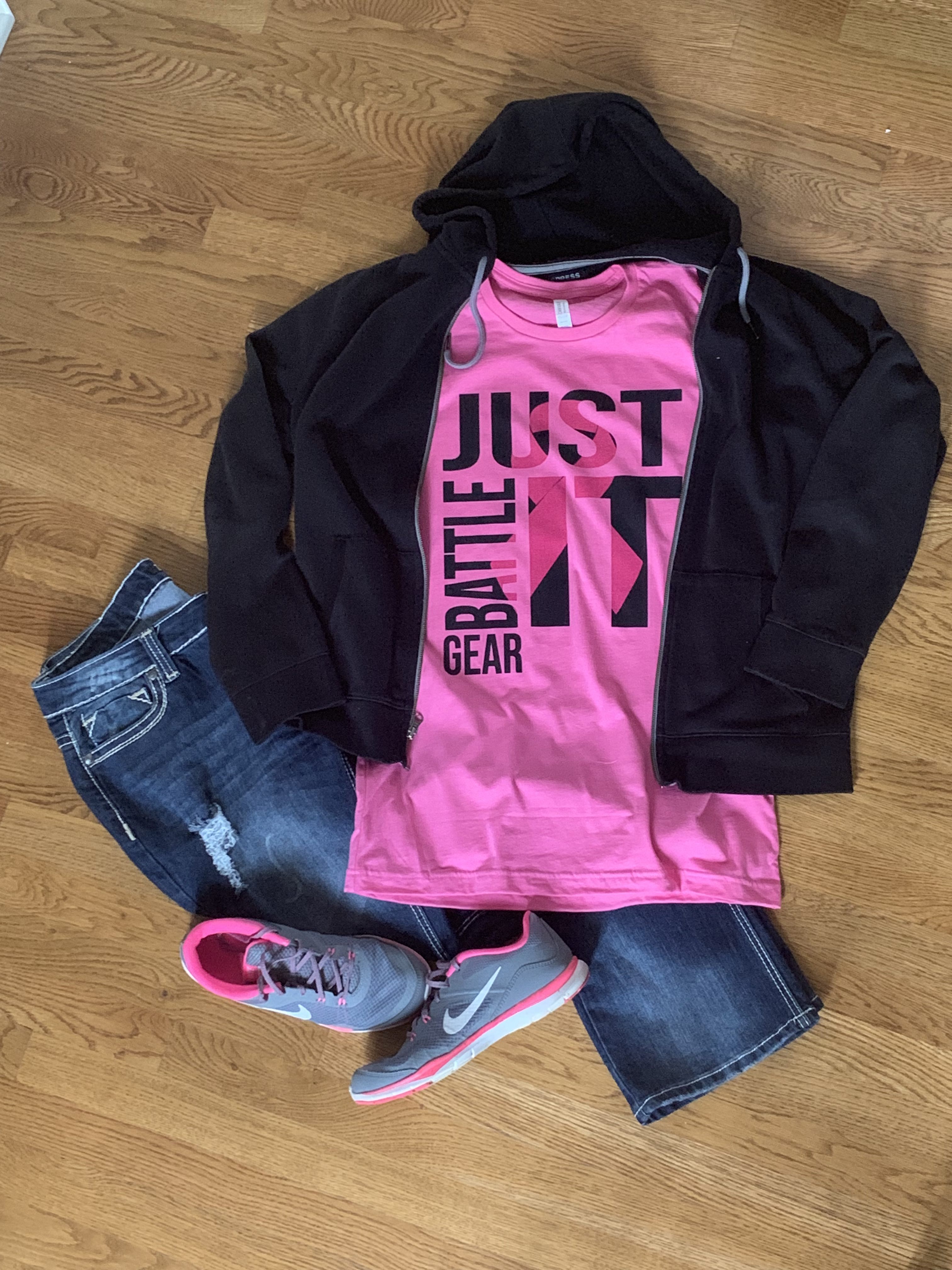 """Just Battle It"" Breast Cancer Awareness Short Sleeve Tee"