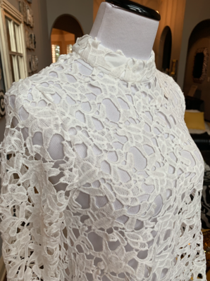 Lace High/Low Blouse