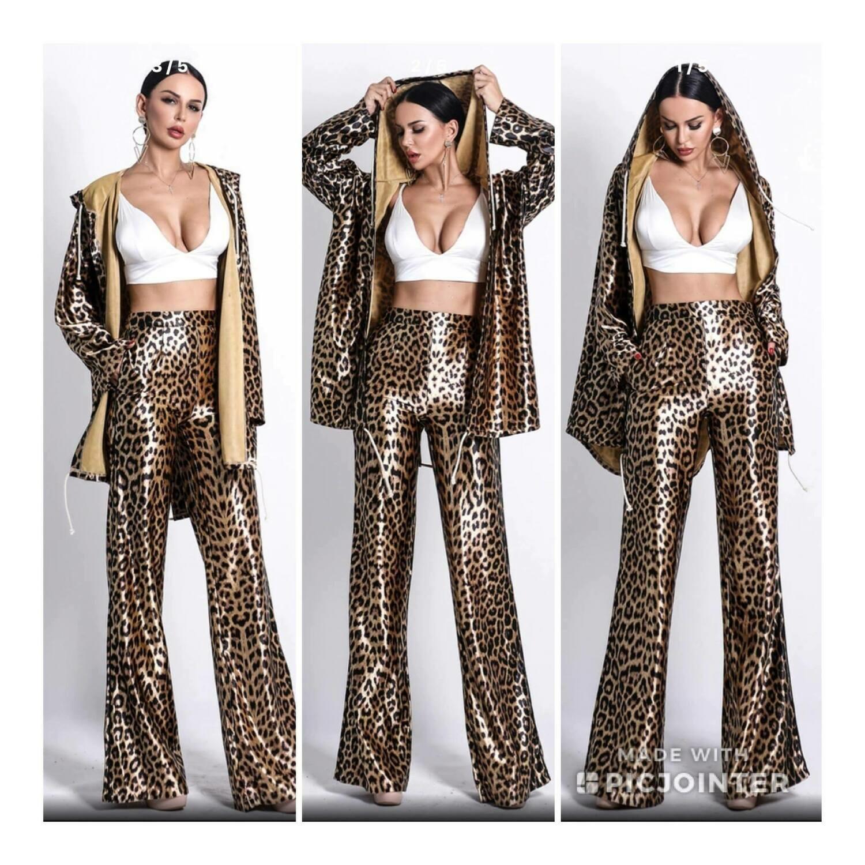 Leopard Print Track Suit