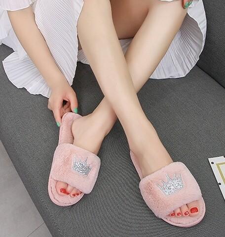 Pink Crown Slippers