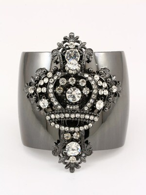 Crown Cross Bracelet