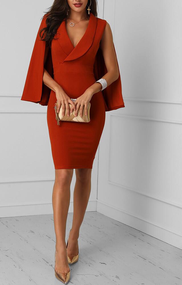 Caped Dress