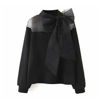 Organza Topped Sweatshirt