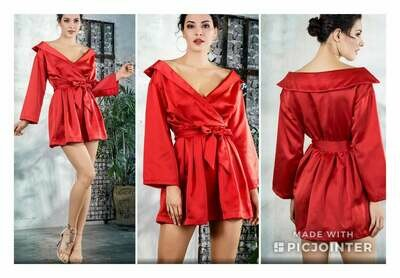 Red Off the Shoulder Fashion Dress