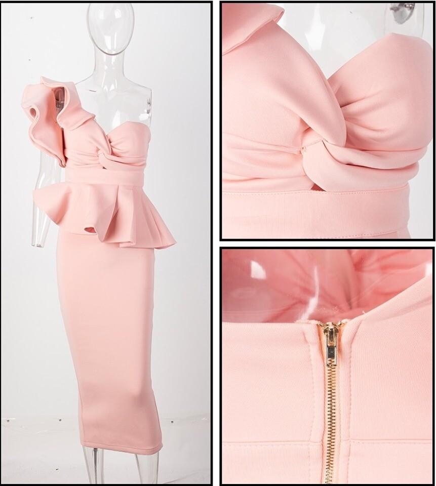Pink Scuba Two Piece