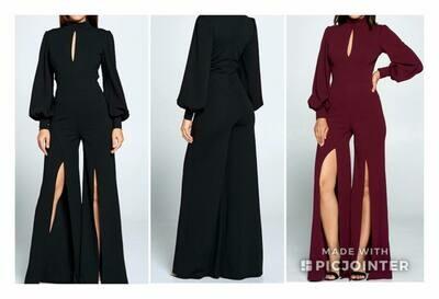 Black Long Sleeved Jumpsuit