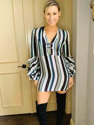 Multi Colored Striped Dress