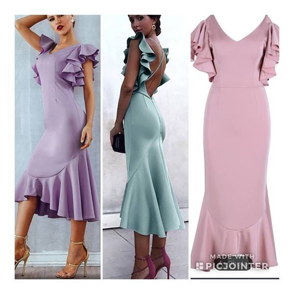 Crepe Back Satin Dress