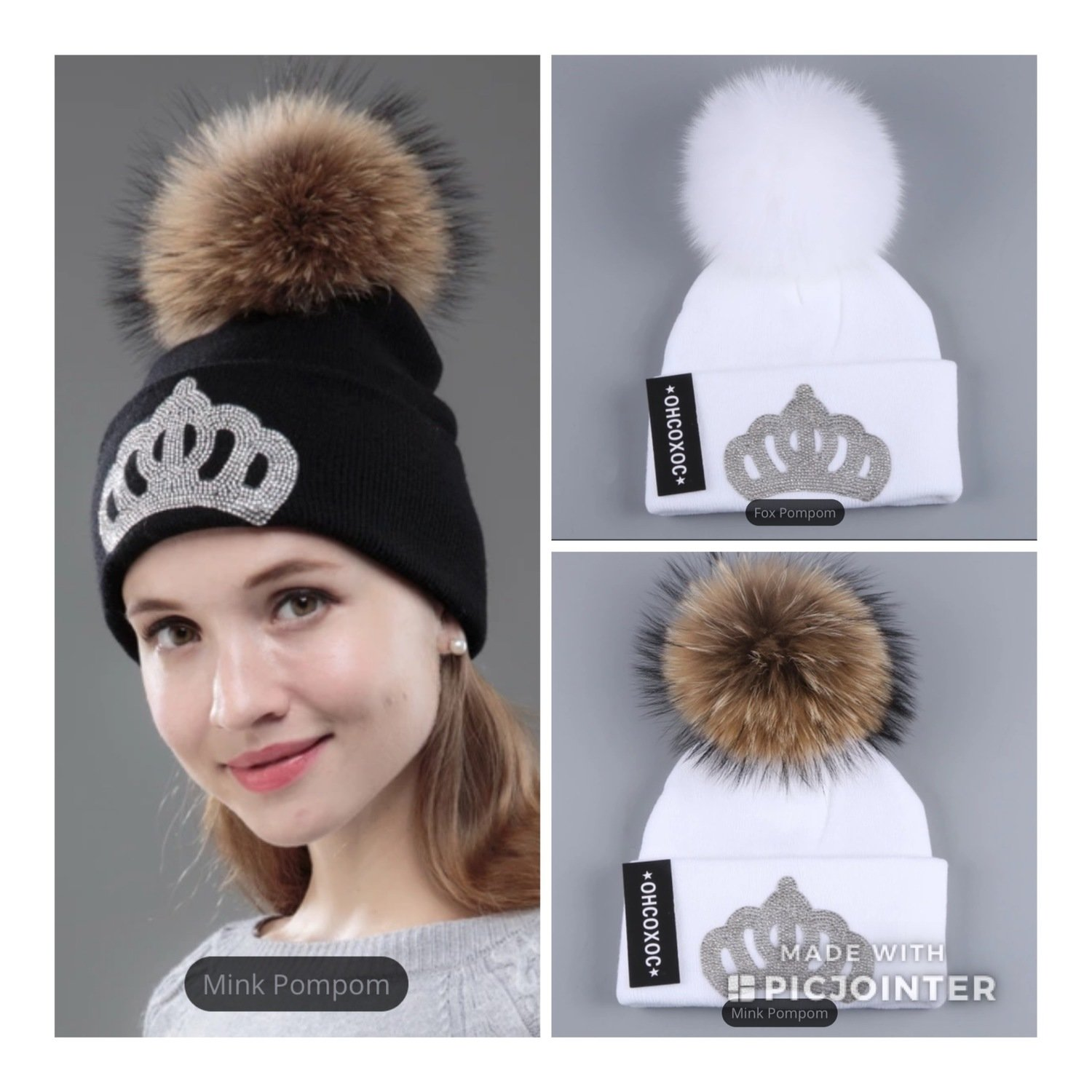 Crown Puff Beanie