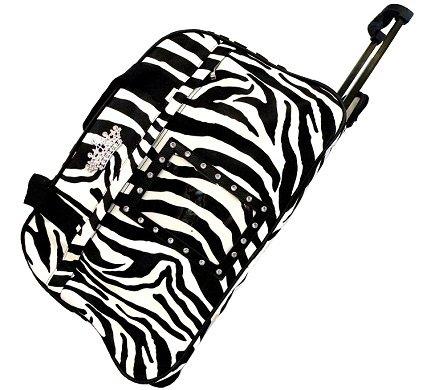 Zebra Rolling Bag