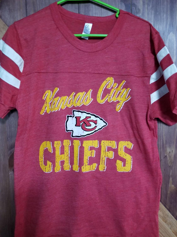 Alternative - Eco-Jersey™ Short Sleeve Football T-Shirt - Vintage Chiefs Design