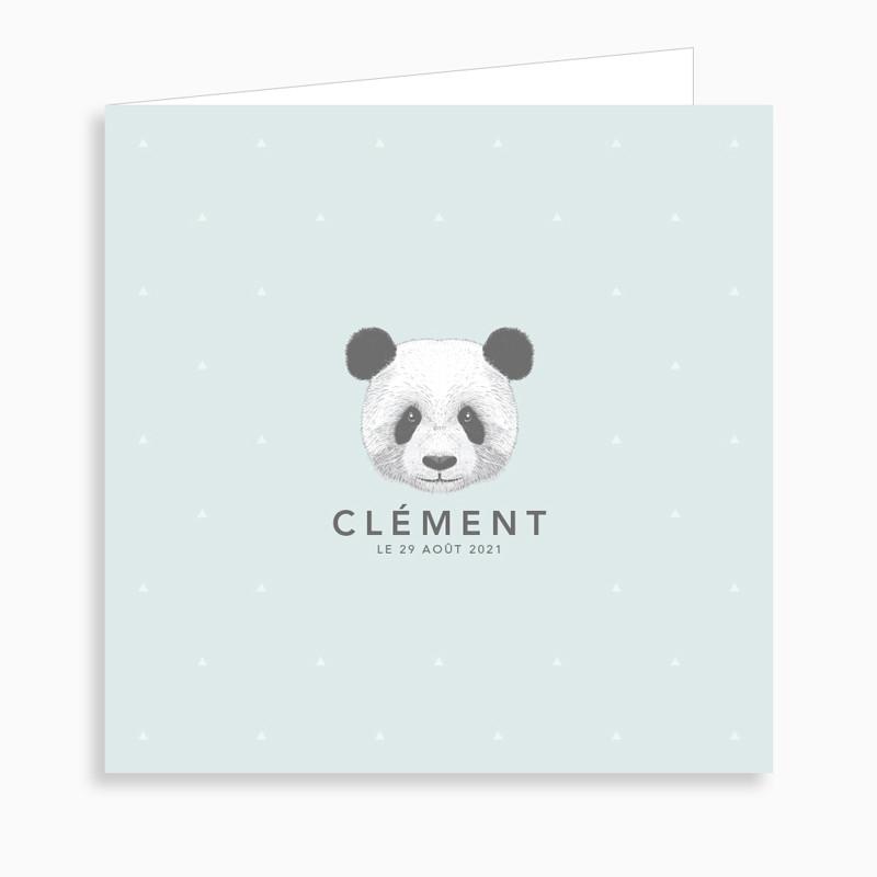 Faire part bapteme panda