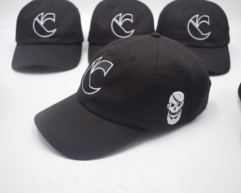 Limited Edition: Canibus 'C' Logo Dad Hats - White/Black