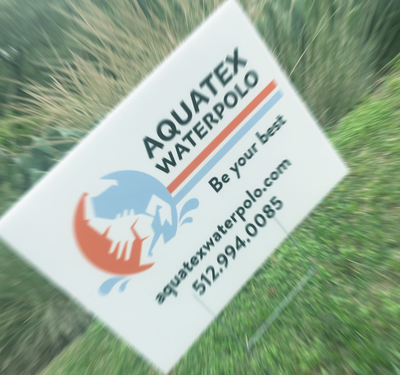 AquaTex Waterpolo Yard Sign