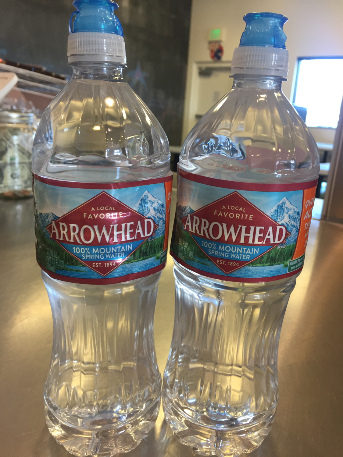 20 Oz. Arrowhead Water Bottle