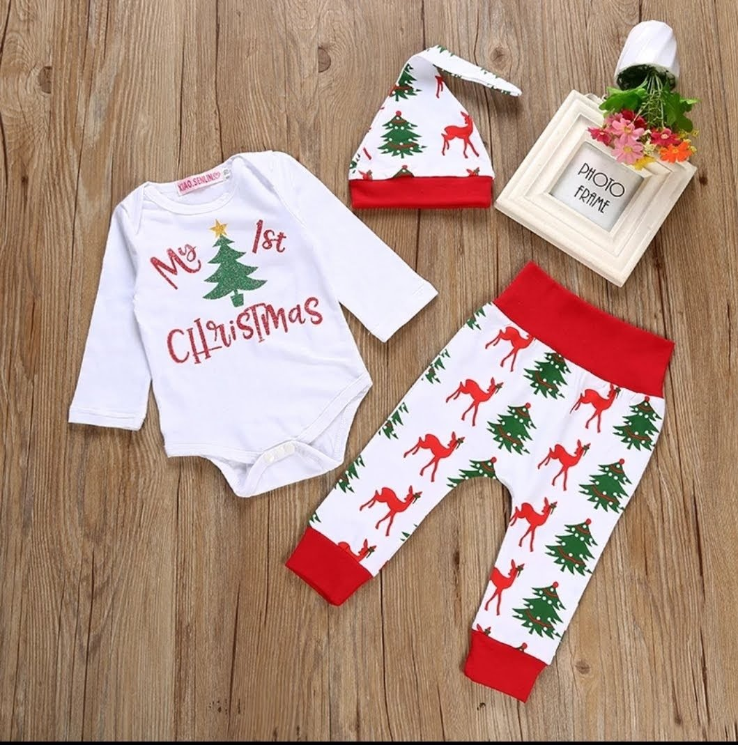 53927358e0299 ~ My First Christmas Outfit Girl ~ Boy ~ Baby Christmas Outfit ~ Newest  Addition to the Family for Baby Girl and Boy ~ Newborn ~ 3M ~ 6M ~ 9M ~ 12M  ~ ...