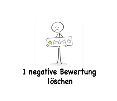 1 negative Bewertung löschen