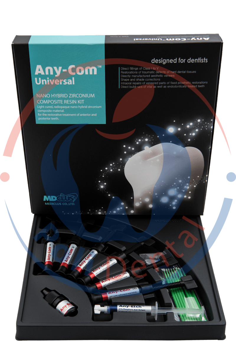"""Эни-Ком (Any-Com Universal, """"Mediclus"""") набор, фотополимерный нано-гибридный композит для реставраций 301-3"""