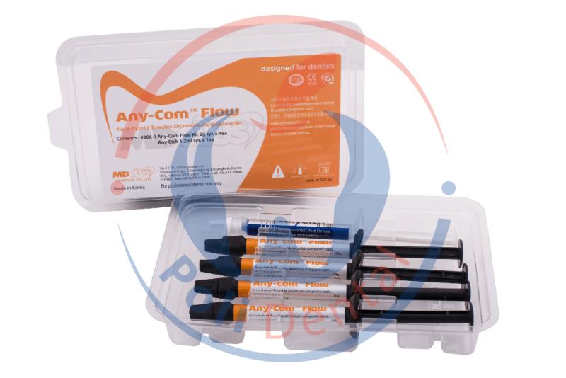 """Эни-Ком Флоу (Any-Com Flow, """"Mediclus"""") набор, текучий фотополимерный нано-гибридный композит для реставраций 306-1"""
