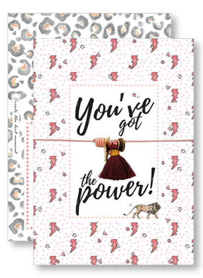 Lucky Armband Kaartjes - You've got the Power