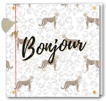 Wenskaart Bedel + Fringe - Bonjour
