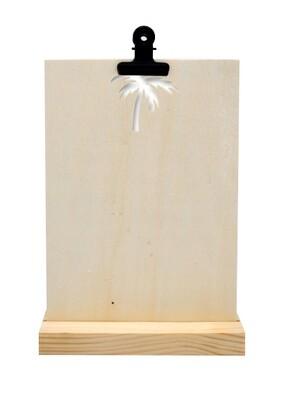 Kaartenstandaard - Palmboom - hout A5