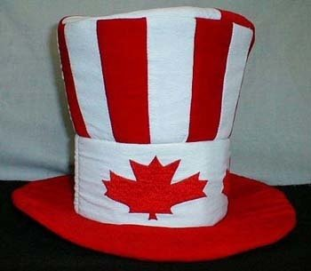 Canada maple leaf velvet hat- Clearance