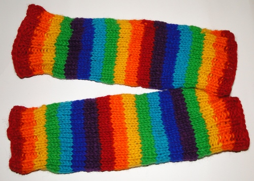Woolen Rainbow Leg Warmer - Clearance