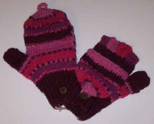 Woolen Mittens with Fingers cover