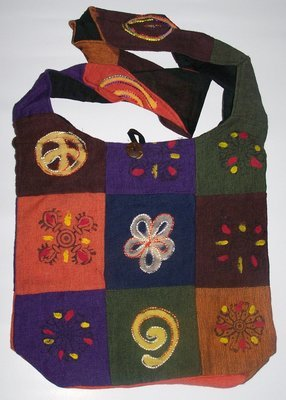 Cotton Embroidered Shoulder Bags