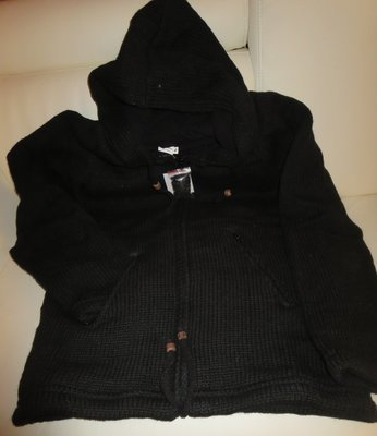 Woolen Jacket  - Black - Clearance